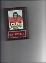 ROY JEFFERSON PLAQUE WASHINGTON REDSKINS FOOTBALL NFL - $2.76