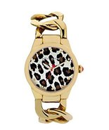 Betsey Johnson Ladies Link Bracelet Watch Leopard Gold [Watch] Betsey Jo... - $162.36