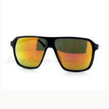 Unisex Fashion Sunglasses Square Flat Top Black Frame Mirror Lens - $7.15