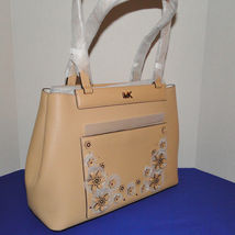 Michael Kors Meredith Med E/W Bonded Leather Tote Butternut image 6