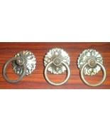 Three National Sewing Machine Decorative Bail Pulls Base Hoop & Screw - $12.50