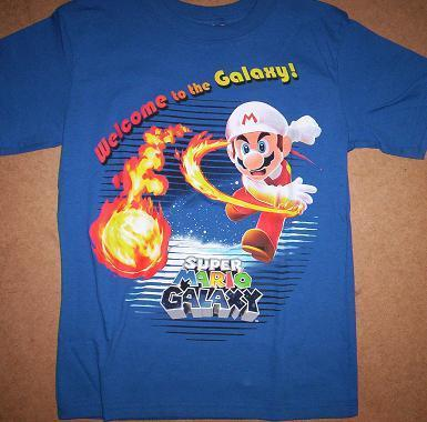 Super MARIO Galaxy Boy's Blue T-Shirt size 10/12 NEW Short Sleeve Back to School Generic