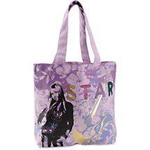 HANNAH MONTANA Star Foil Book Tote Hand Bag NEW Generic