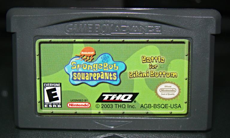GAME BOY ADVANCE - Sponge Bob SQUARE PANTS Battle for Bikini Bottom (Game Only) image 4