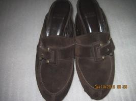 Stuart Weizman Mules/Clogs brown Suede Leather Heel shoes size 8M - $35.00