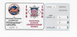 New York Mets Ticket Stub 1988 National League Championship Series Game 4 Nlcs - $24.99