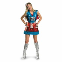 Disguise The Simpsons Duffwoman Birra Deluxe Adulto Donna Halloween Costume - $46.93