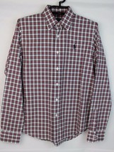 Ralph Lauren Sport youth boys shirt plaid long sleeve button front cotto... - $19.67