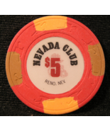 "$5.00 - 1989 Casino Chip From: ""The Nevada Club"" - (sku#3193) - $4.99"