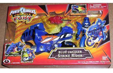 Power Rangers Jungle Fury NEW JAGUAR Blue Action Figure and Cycle RARE Bandai