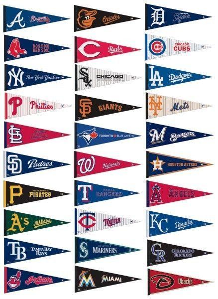 "MLB MAJOR LEAGUE BASEBALL TEAM LOGO 100% FELT PENNANT *BIG* 12""X 30"" SHIPS FLAT!"