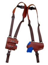 NEW Burgundy Leather Thumb Break Shoulder Holster w/Mag Pouch S&W Small 380 9mm - $109.99