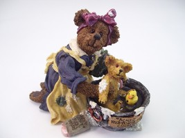 Boyds Bearstones Momma with Baby Taylor ... Rub-a-Dub-Dub 2002 RETIRED - $24.70