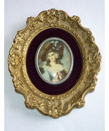 Vintage A Cameo Creation Victorian Portrait Lady Sheffield Gilt Convex G... - $13.95
