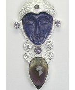 Hand Carved Russian Charoite Goddess with Ametr... - $160.26