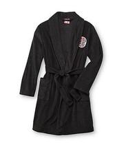 TRANSFORMERS Bathrobe Boy's 6/7 NeW Soft Plush Emblem Black Bath Robe Bu... - $24.99