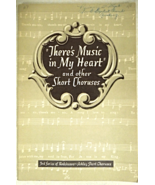 "Vintage Christian Music Book 1952 ""There's Music In My Heart""and..  #8515 - $6.50"