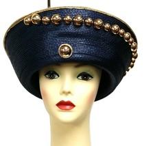 Blue-Gold Trim hat - $29.98