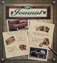1999 LAND ROVER JOURNAL brochure catalog magazine ISSUE 3 Range Discovery - $12.00