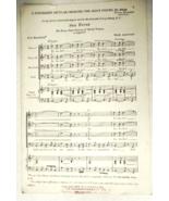 """Vintage 1920s Sheet Music """"Sea Fever"""" 4 Part - Men's Voices #8504 - $4.99"""
