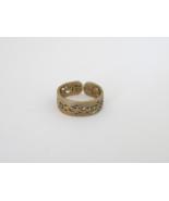 Vintage Sterling Silver Adjustable Filigree Band Ring Size 3 - $12.99