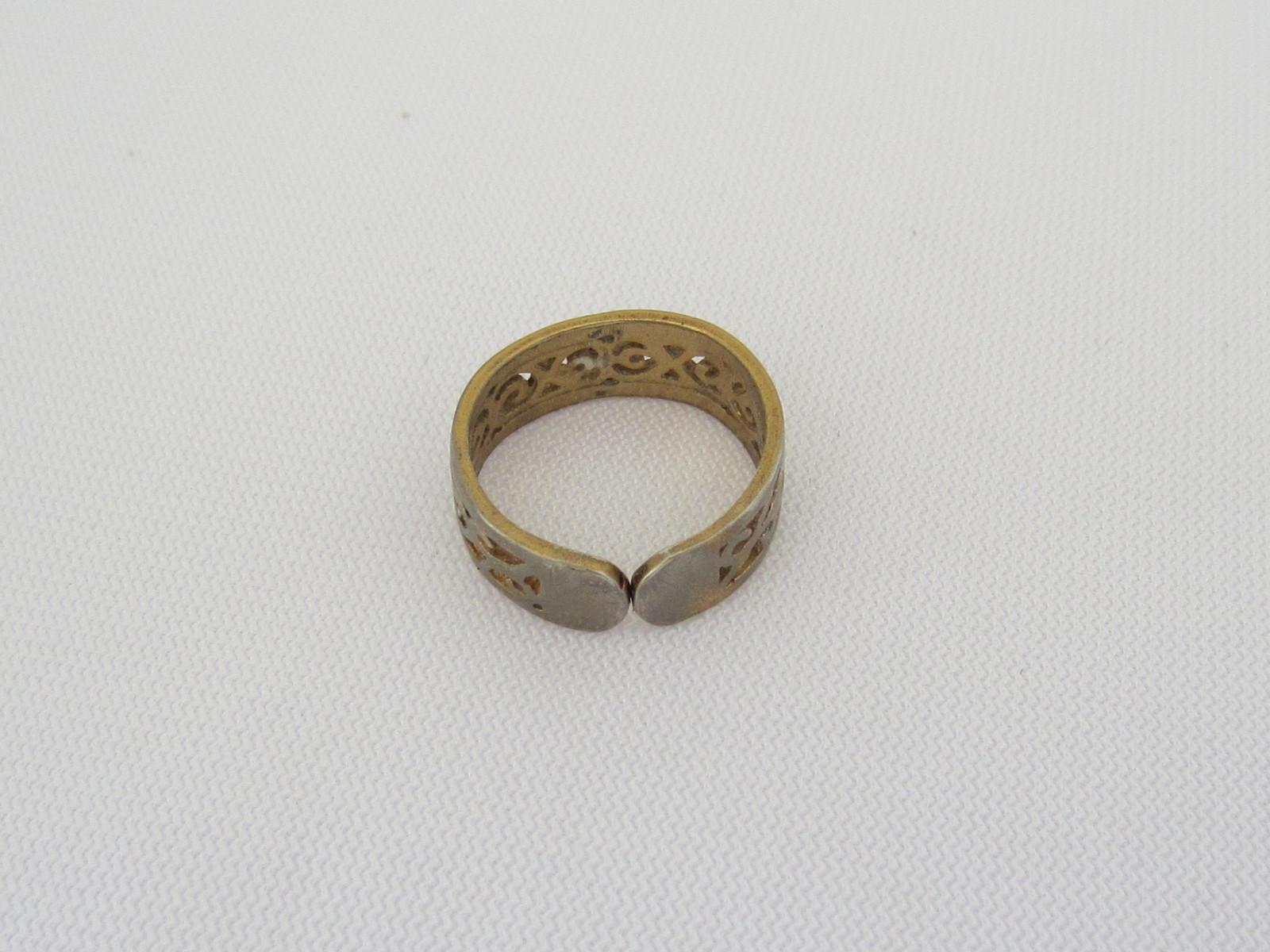 Vintage Sterling Silver Adjustable Filigree Band Ring Size 3