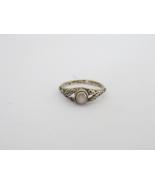Vintage Sterling Silver Mother of Pearl Leaf Ring Size 2.5 - $20.00