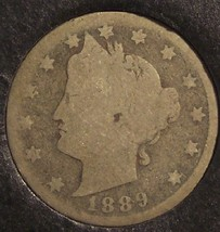 1889 Liberty Head Nickel SCARCE DATE AG #464 - $5.99