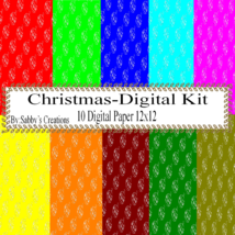 Christmas Digital Kit-Digtial Paper-Art Clip-Gift Tag-Jewelry-T shirt-No... - $5.00