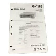 Sony XR-1100  FM AM Car Stereo service Manual - $14.99
