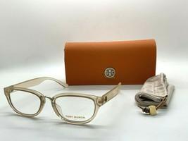 Tory Burch TY 4005U 1777 TRANSPARENT PEACH 53-18-140MM Eyeglasses Frame  - $77.57