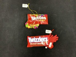 Lot Of Kurt Adler Twizzlers Strawberry Twists And Skittles Christmas Orn... - $19.21