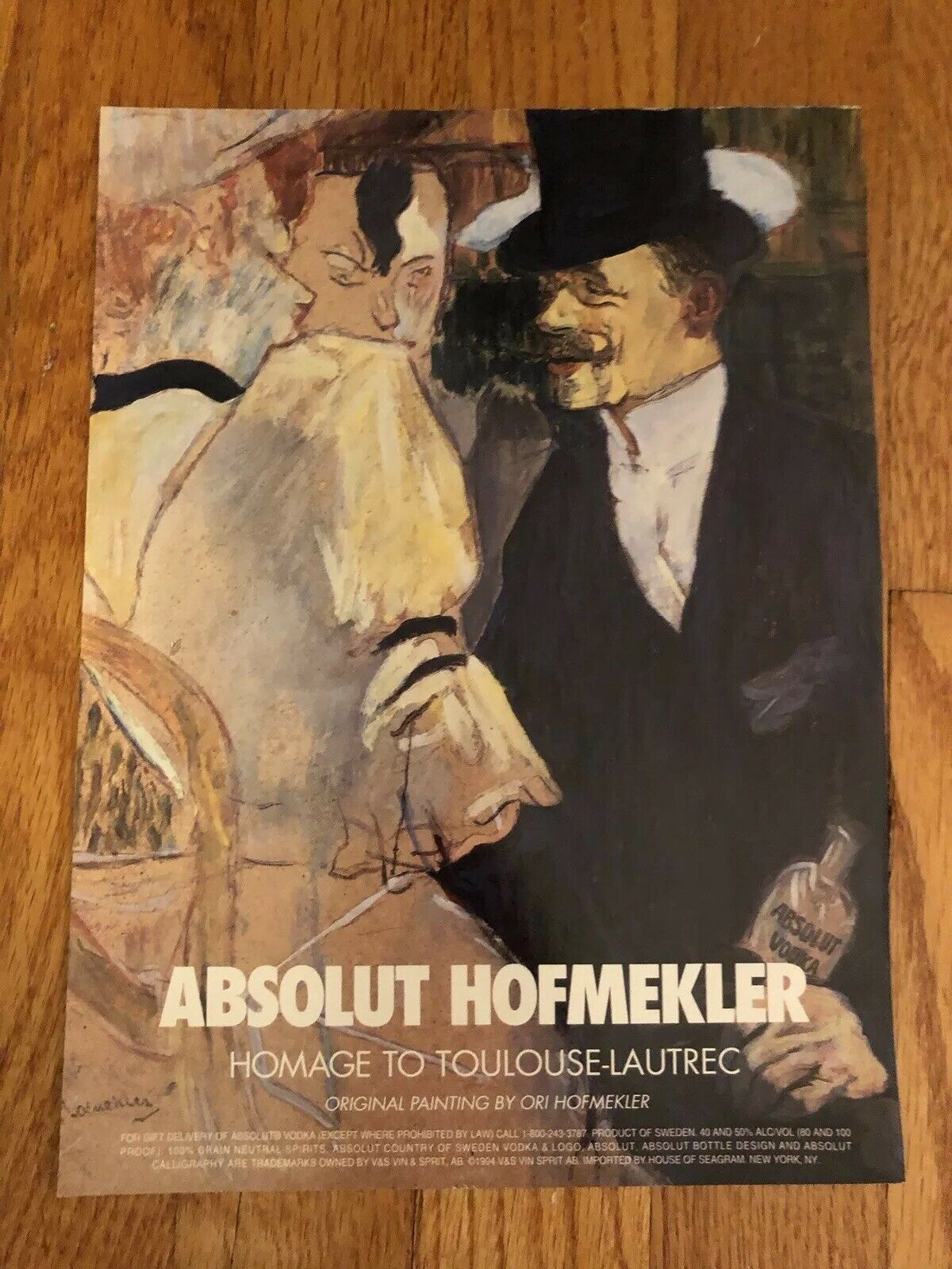 Primary image for Absolut Hofmekler Original Magazine Ad