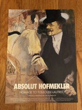 Absolut Hofmekler Original Magazine Ad - $3.99