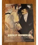 Absolut Hofmekler Original Magazine Ad - $3.99