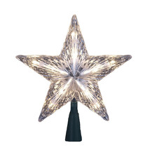 "Kurt Adler 7"" Clear Star Treetop 10-LIGHT Set Tree Topper Christmas Decoration - $9.88"
