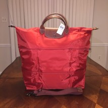 NWT Longchamp Le Pliage Expandable Travel Bag in Burnt Red Authentic - $238.15