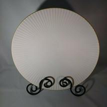 """DINNER PLATE ROYAL NORFOLK GREENBRIER INTERNATIONAL WHITE  RIDGED 10 3/4"""" - $24.14"""