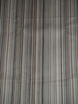 """Tommy Bahama Brown Tan Striped Upholstery Fabric Triangle Remnant 56"""" Wide - $23.02"""