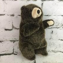 Folktails By Folkmanis Grizzly Bear Plush Full Body Hand Puppet Lifelike Animal - $24.74