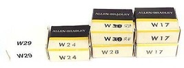 LOT OF 6 NIB ALLEN BRADLEY HEATER ELEMENTS W29, W24, W28, W17