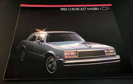 Vintage  Original 1983 Chevrolet Malibu 8-pageCar Sales Brochure Catalog - $9.65