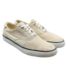 ROCKPORT Mens Size 12 Beige Canvas Lace-up Sneakers Boat Shoes - $19.79