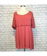 ASOS Women's Salmon Gathered Waist Babydoll Smock Midi Dress Size 22 - $19.79