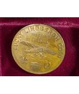 1943 MEDAL -LUCKY LINDBERG -FIRST NON STOP  FLIGHT NEW YORK TO PARIS - £70.86 GBP
