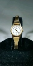 Vintage Lorus women's gold tone watch white face V236 0040 - $14.99