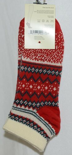 Simply Noelle Brand Red Green Color One Size Fits Most Womens  Ankle Socks