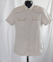 GUESS Mens SS Western Snap Button Shirt Size: L