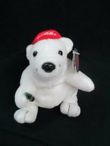 Coca-Cola Polar Bear with Baseball Cap  Plush Bean Bag Style  - BRAND NEW - $7.43
