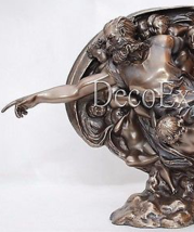 God Figurine Creation humanity Michelangelo Sculpture Bronze * Free Shipping   - $98.01